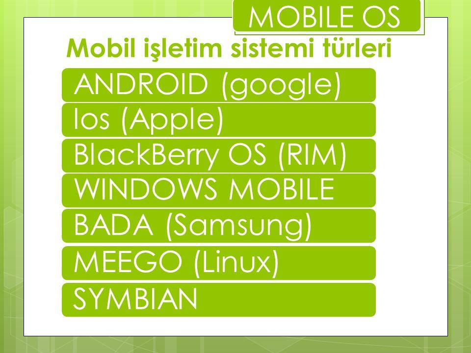 Mobil işletim sistemi türleri