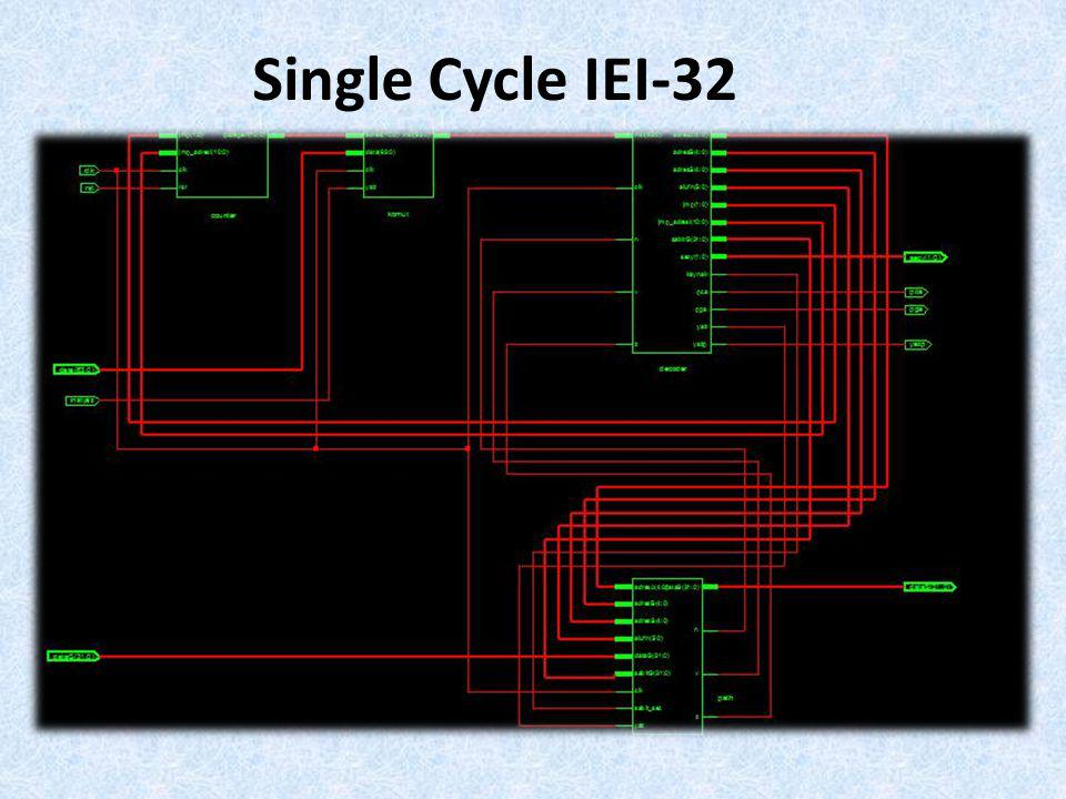 Single Cycle IEI-32