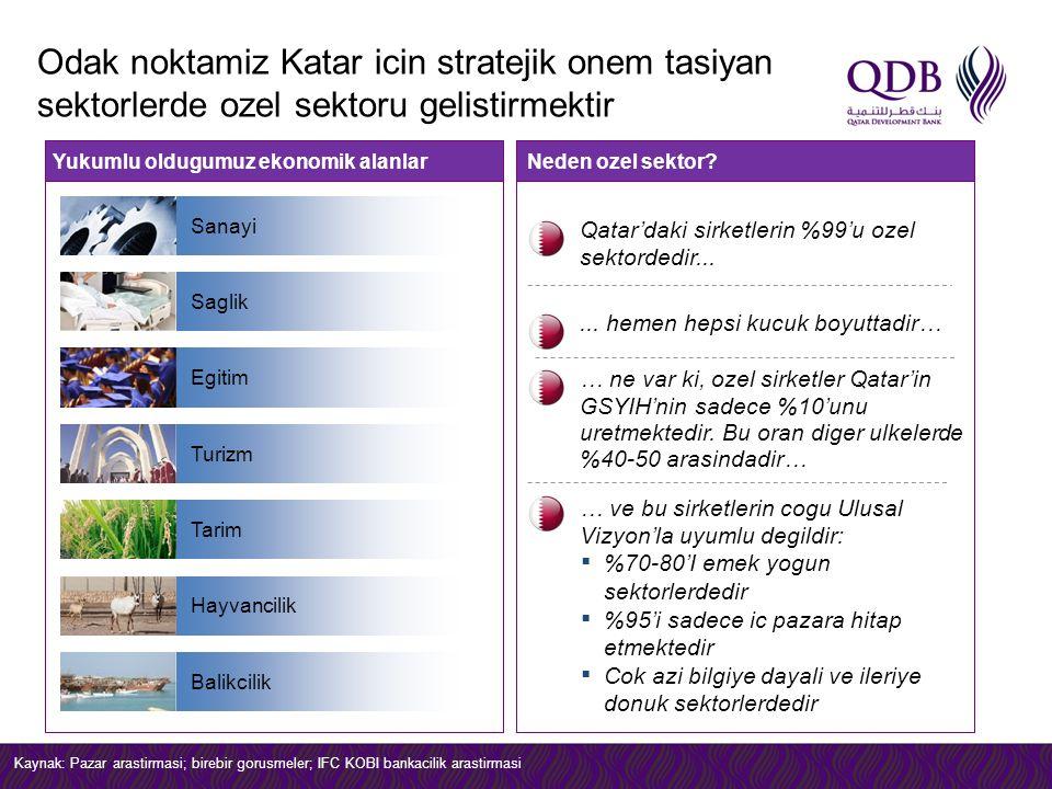 Odak noktamiz Katar icin stratejik onem tasiyan sektorlerde ozel sektoru gelistirmektir