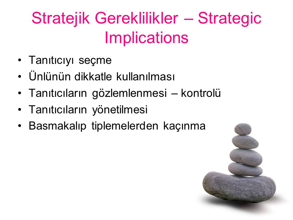 Stratejik Gereklilikler – Strategic Implications