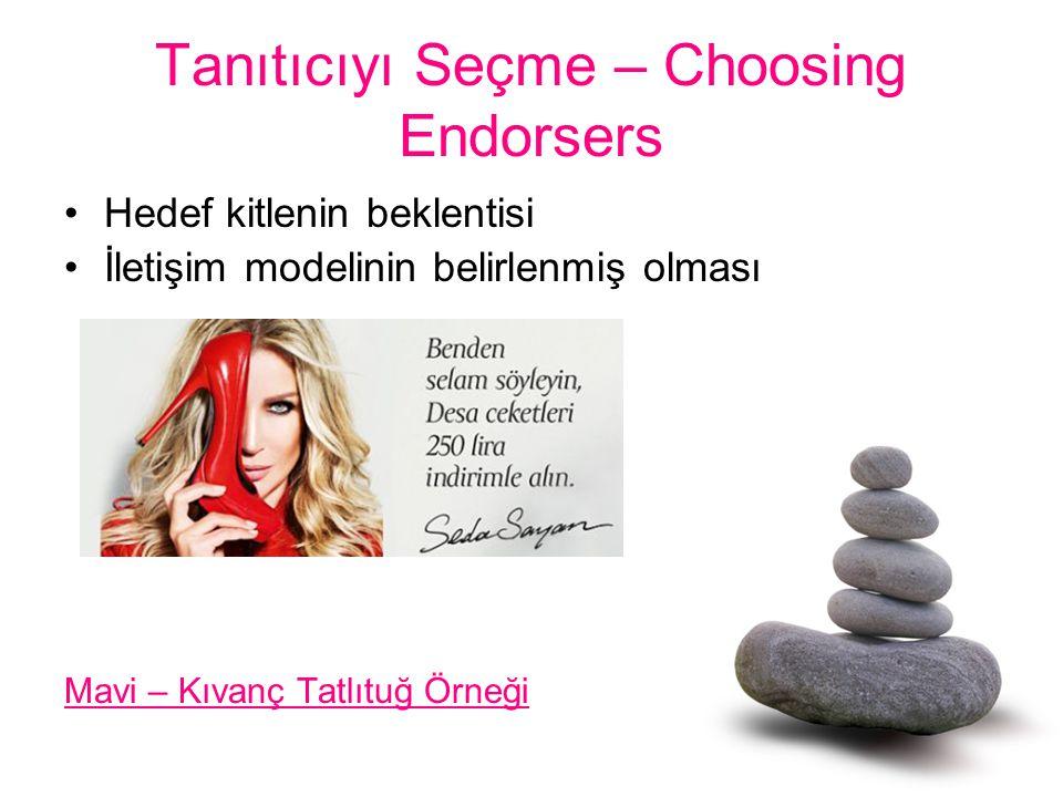 Tanıtıcıyı Seçme – Choosing Endorsers