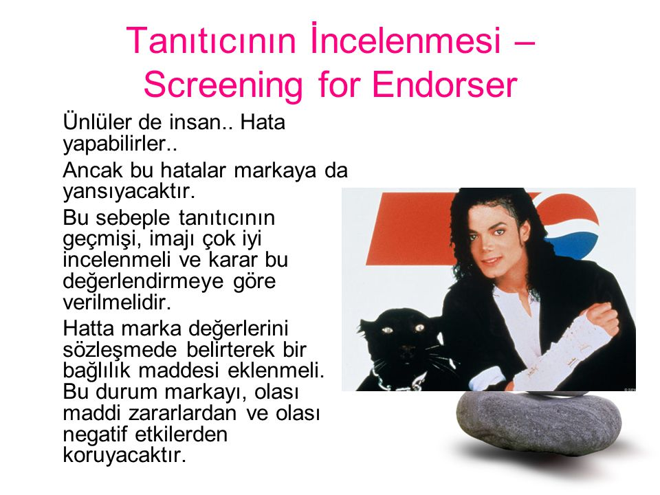 Tanıtıcının İncelenmesi – Screening for Endorser