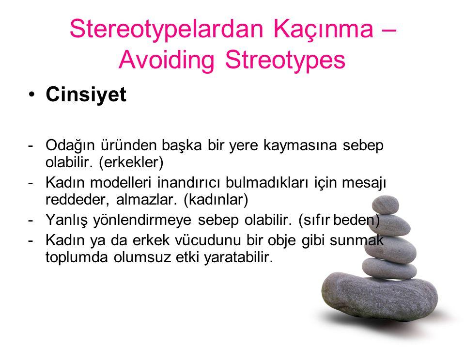 Stereotypelardan Kaçınma – Avoiding Streotypes