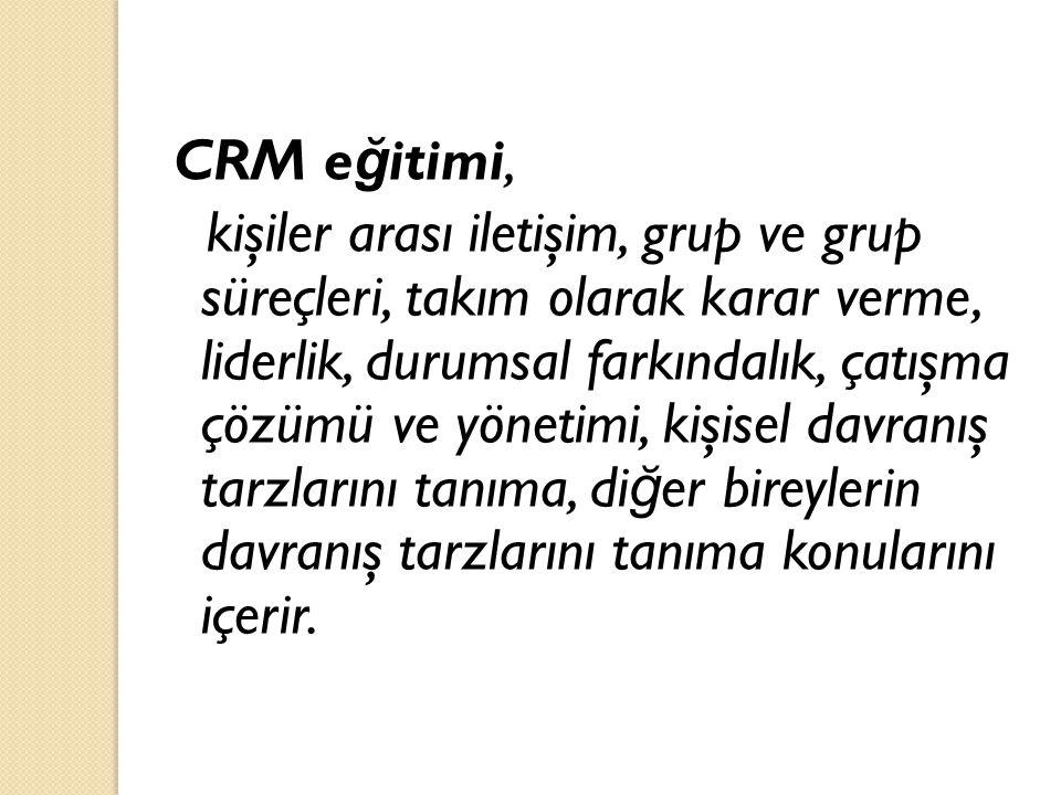 CRM eğitimi,