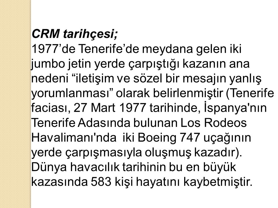 CRM tarihçesi;