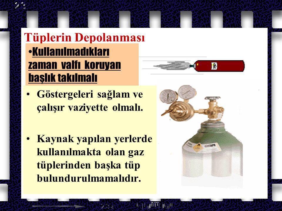 Azot Oksit Gazları Tüplerin Depolanması