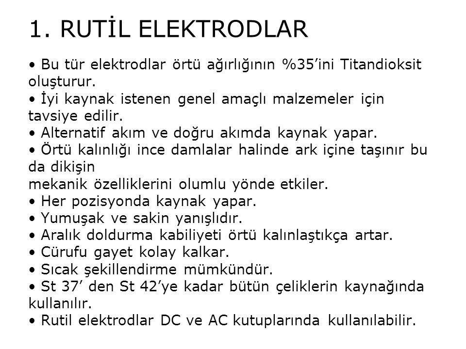 1. RUTİL ELEKTRODLAR