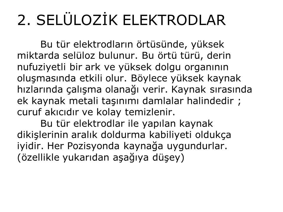 2. SELÜLOZİK ELEKTRODLAR
