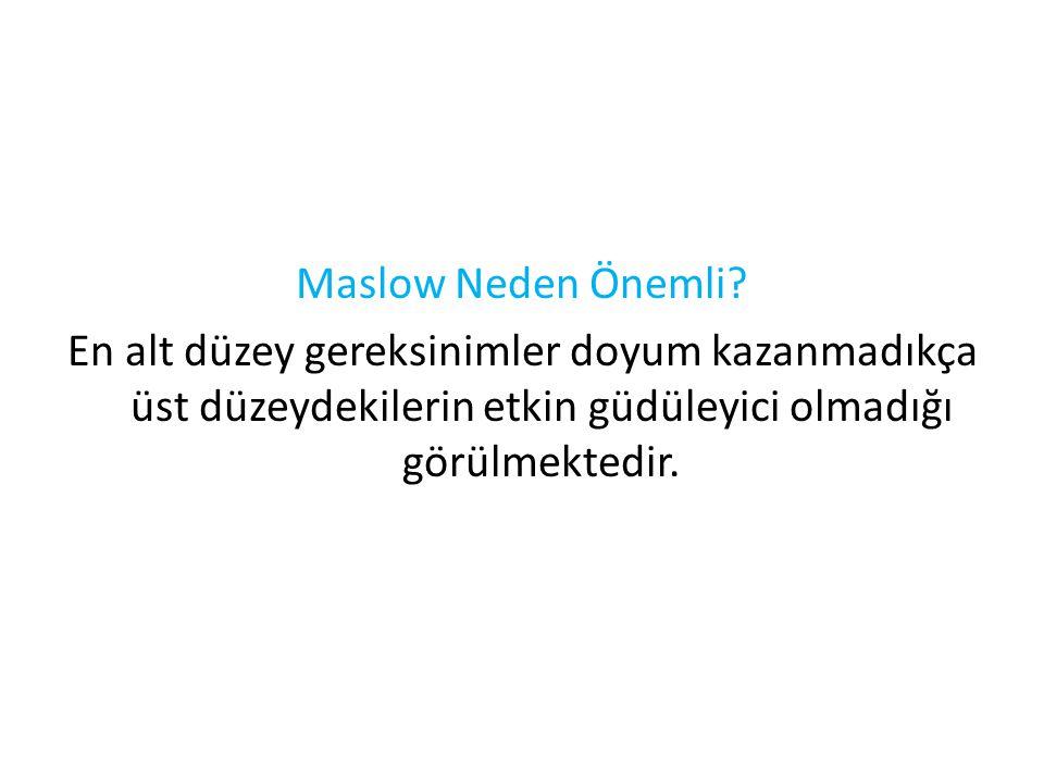 Maslow Neden Önemli.