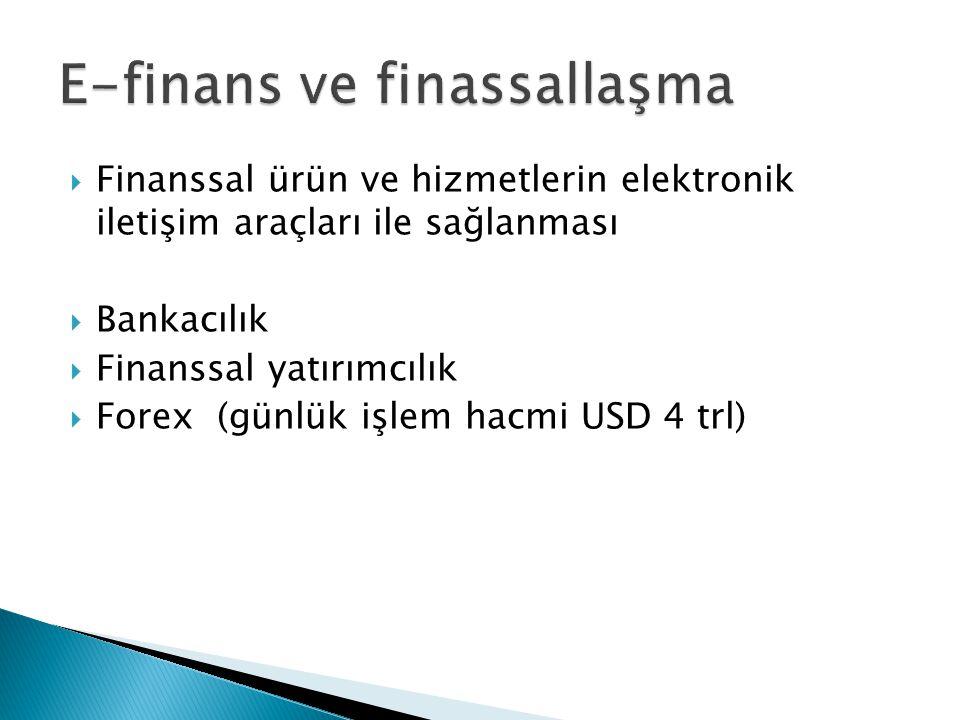 E-finans ve finassallaşma