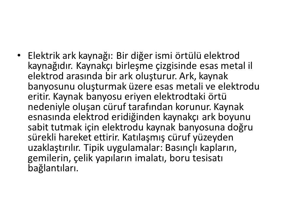 Elektrik ark kaynağı: Bir diğer ismi örtülü elektrod kaynağıdır
