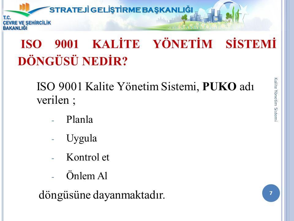 ISO 9001 KALİTE YÖNETİM SİSTEMİ DÖNGÜSÜ NEDİR