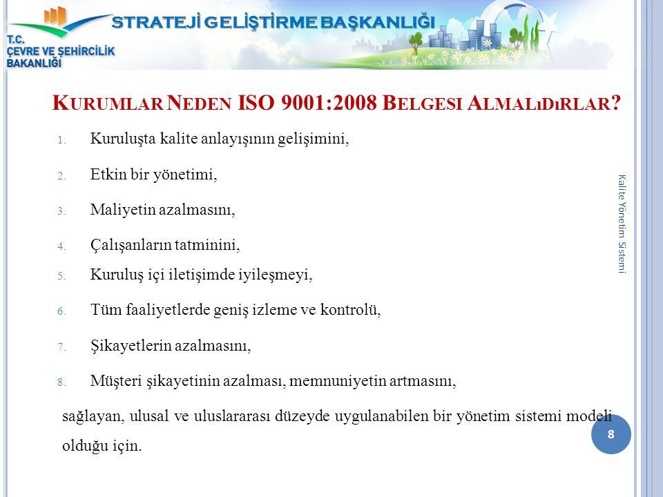 Kurumlar Neden ISO 9001:2008 Belgesi Almalıdırlar