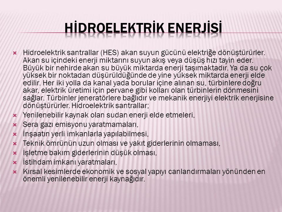 Hİdroelektrİk Enerjİsİ