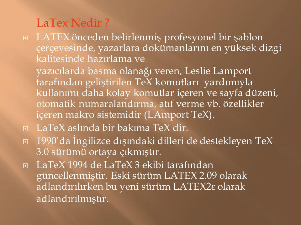 LaTex Nedir
