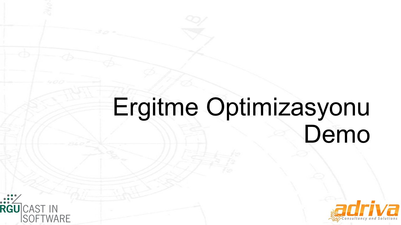 Ergitme Optimizasyonu Demo