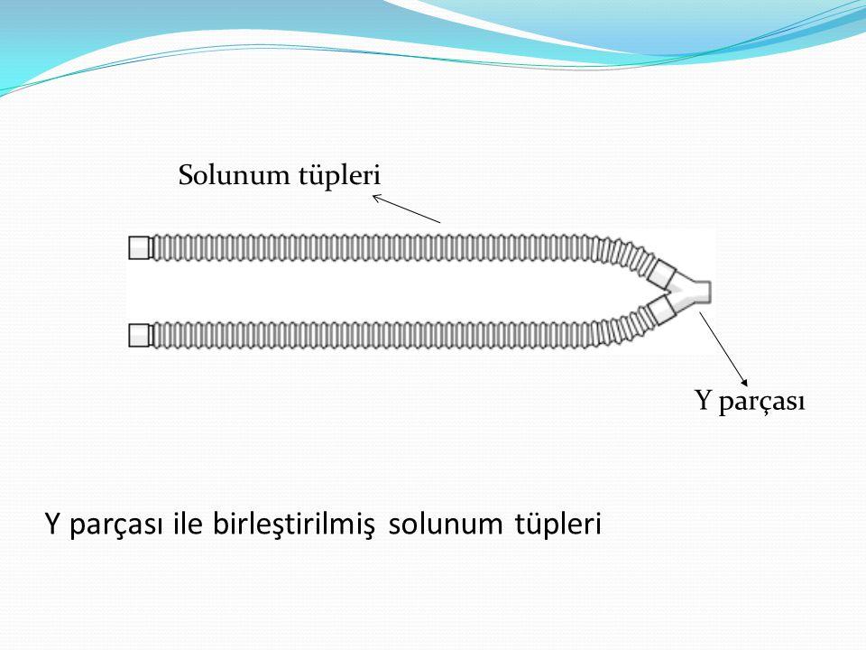 Y parçası ile birleştirilmiş solunum tüpleri