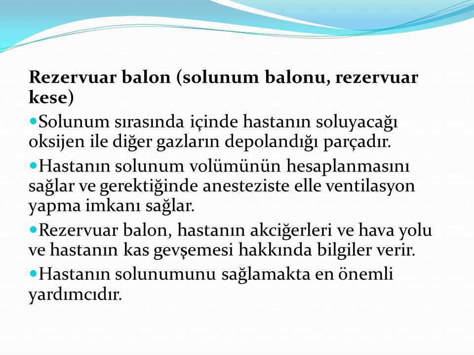 Rezervuar balon (solunum balonu, rezervuar kese)