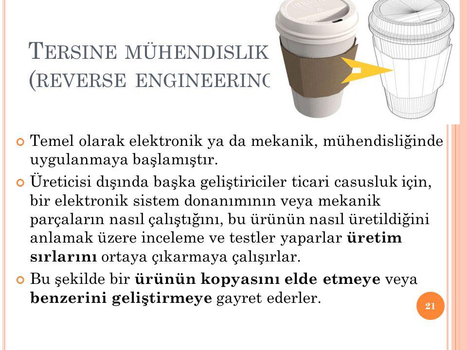 Tersine mühendislik (reverse engineering)