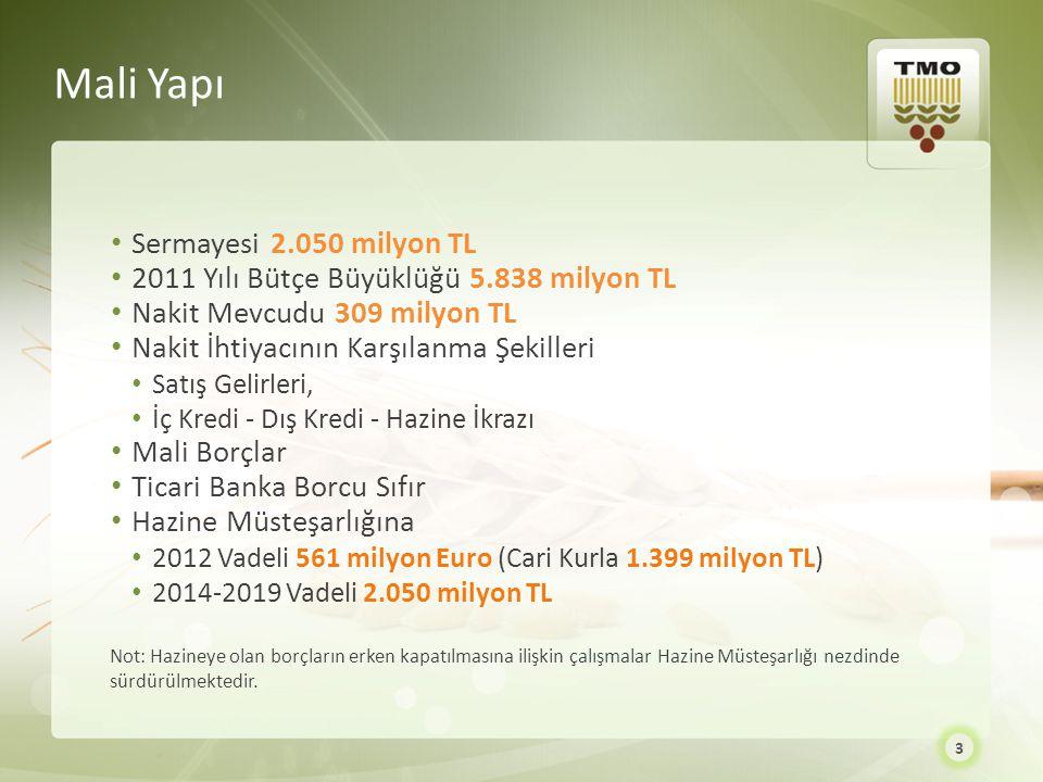 Mali Yapı Sermayesi 2.050 milyon TL