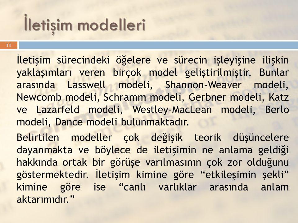 İletişim modelleri