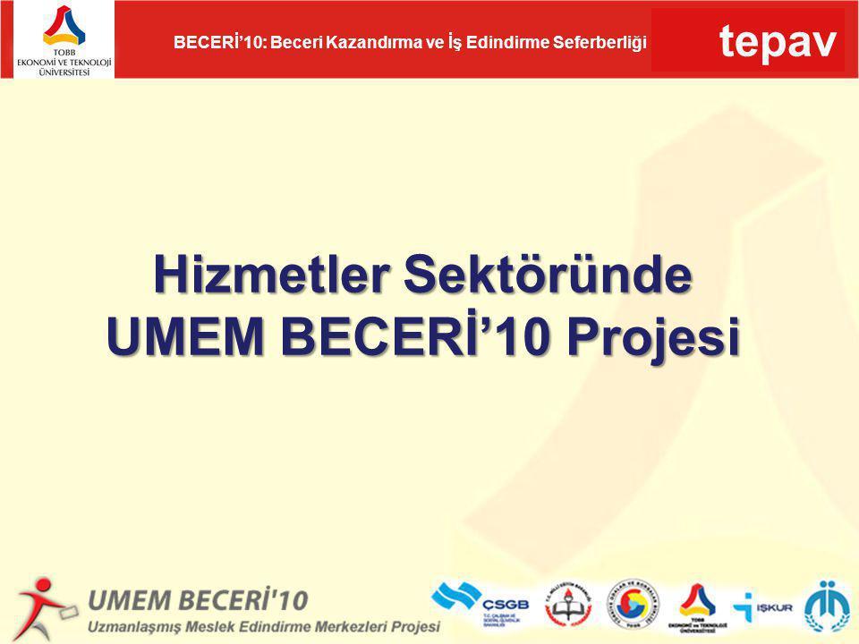 Hizmetler Sektöründe UMEM BECERİ'10 Projesi