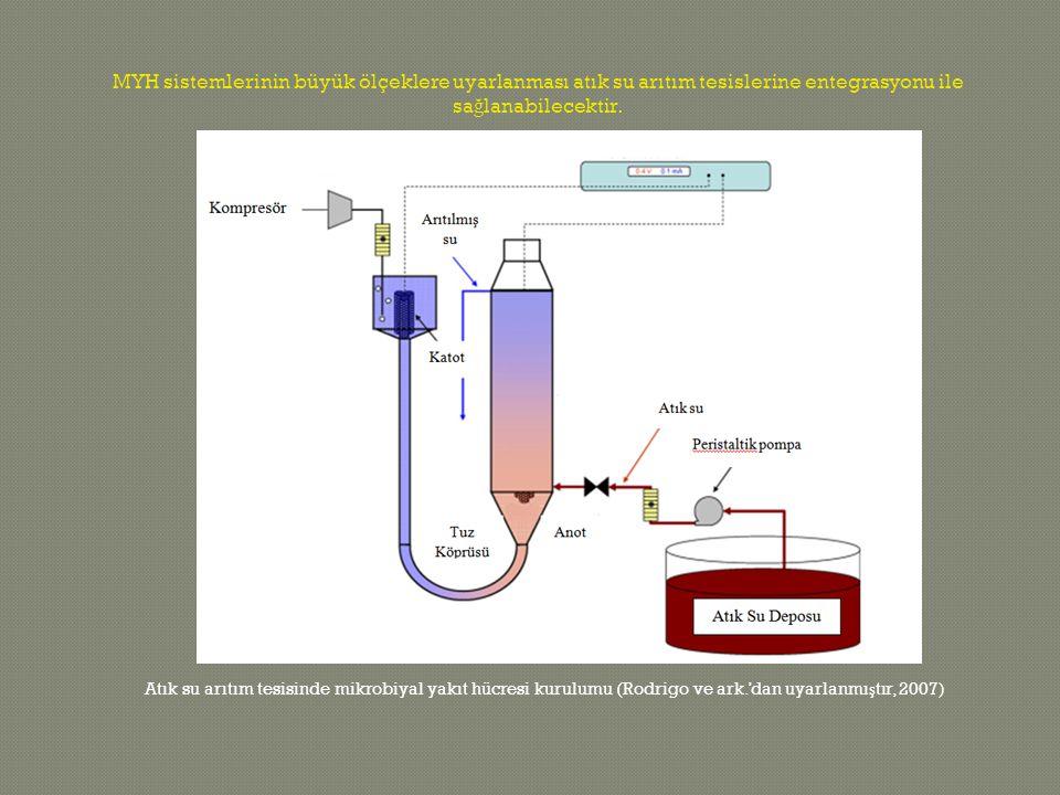 MYH sistemlerinin büyük ölçeklere uyarlanması atık su arıtım tesislerine entegrasyonu ile sağlanabilecektir.