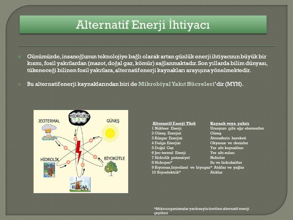 Alternatif Enerji İhtiyacı