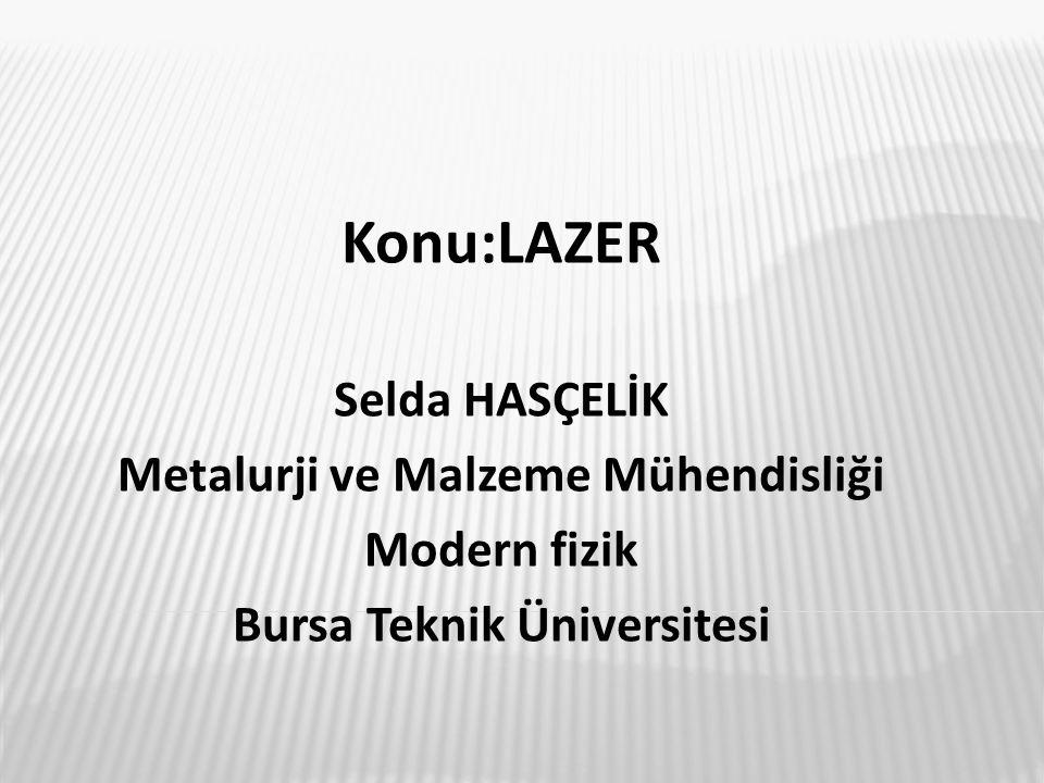 Metalurji ve Malzeme Mühendisliği Bursa Teknik Üniversitesi