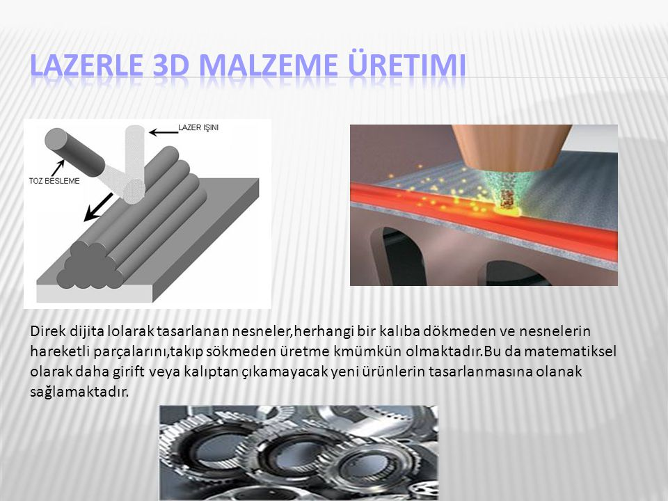 Lazerle 3D Malzeme Üretimi