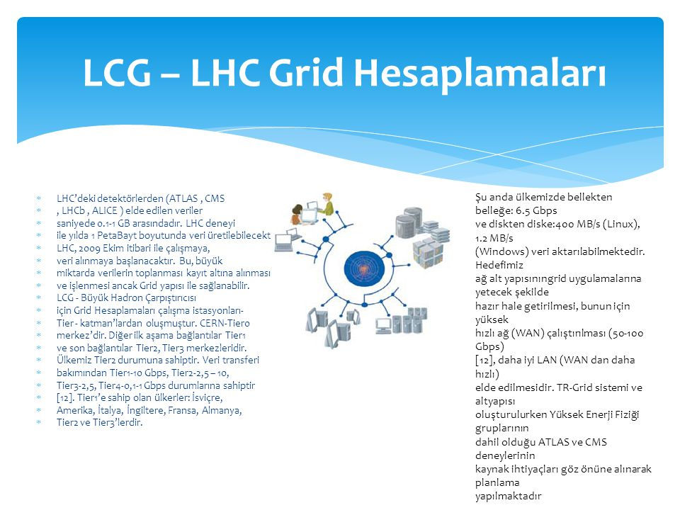 LCG – LHC Grid Hesaplamaları
