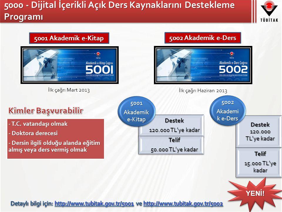 5000 - Dijital İçerikli Açık Ders Kaynaklarını Destekleme Programı