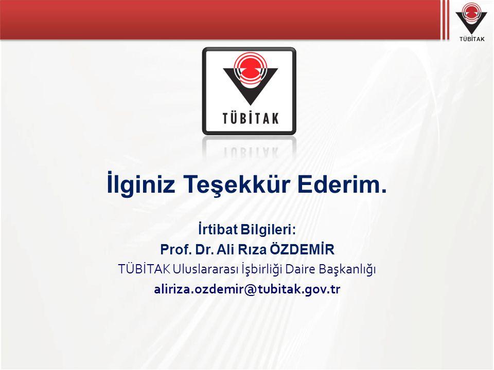 İlginiz Teşekkür Ederim. Prof. Dr. Ali Rıza ÖZDEMİR