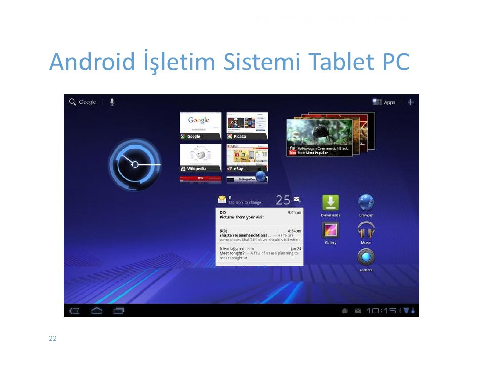 Android İşletim Sistemi Tablet PC