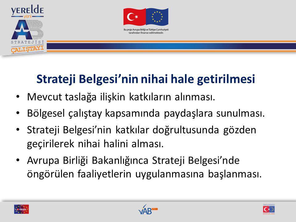 Strateji Belgesi'nin nihai hale getirilmesi