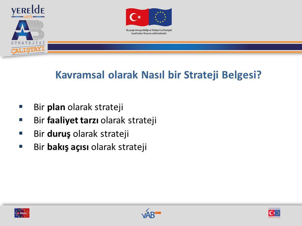 Kavramsal olarak Nasıl bir Strateji Belgesi