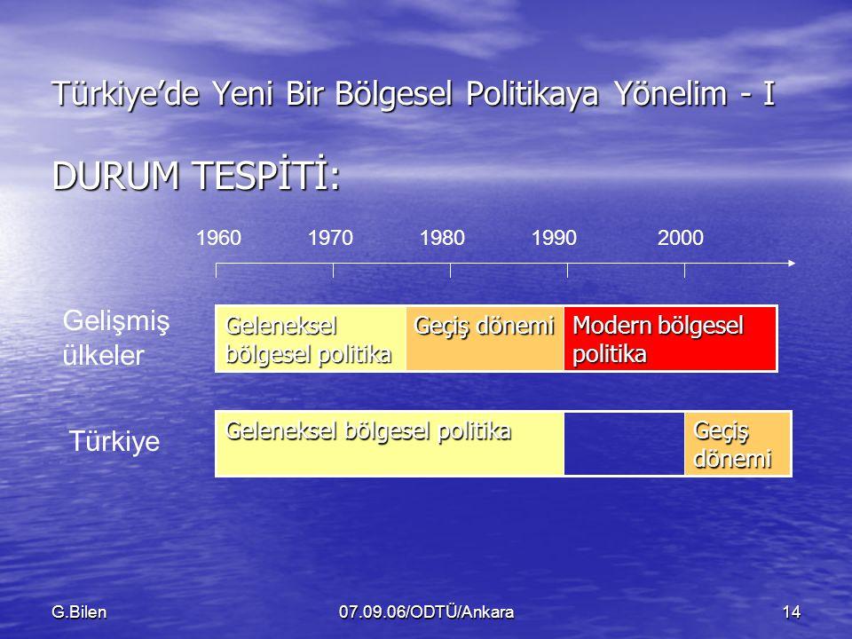 Türkiye'de Yeni Bir Bölgesel Politikaya Yönelim - I