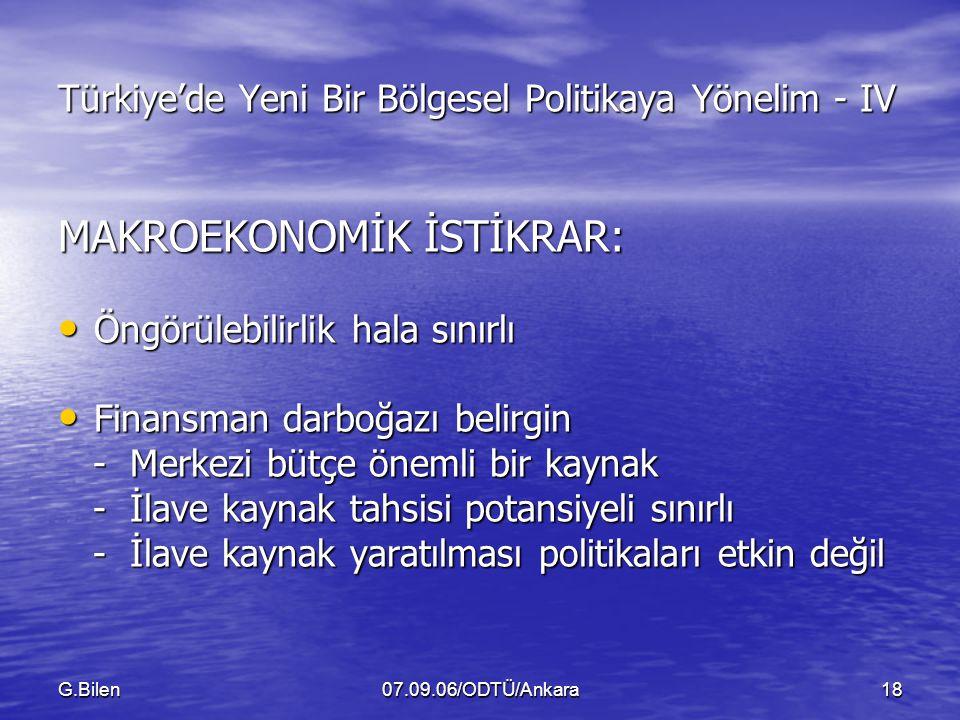 Türkiye'de Yeni Bir Bölgesel Politikaya Yönelim - IV