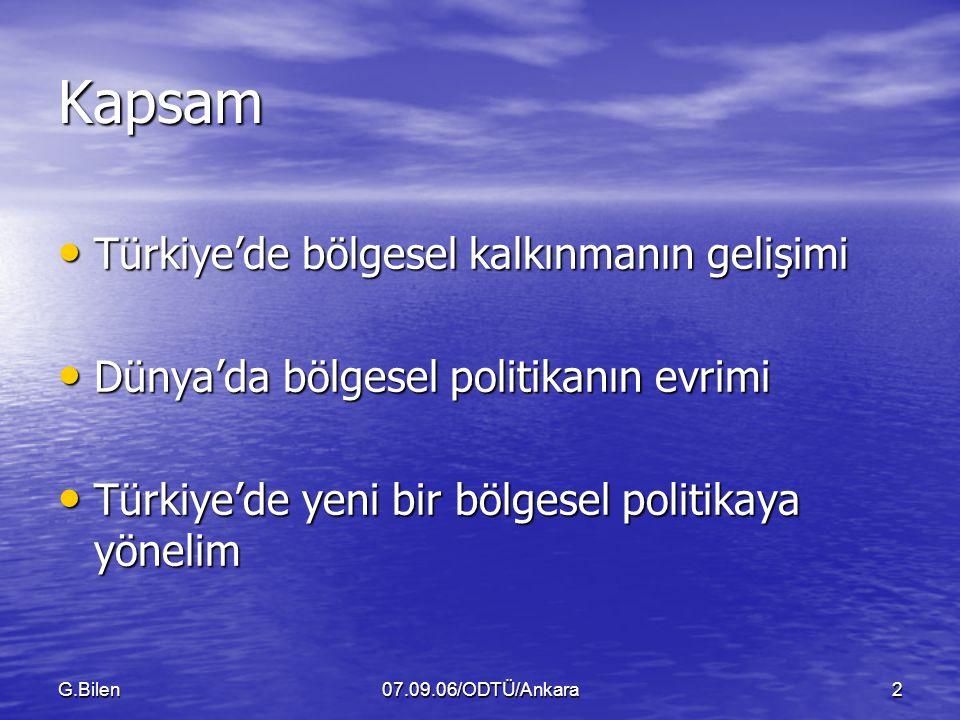 Kapsam Türkiye'de bölgesel kalkınmanın gelişimi