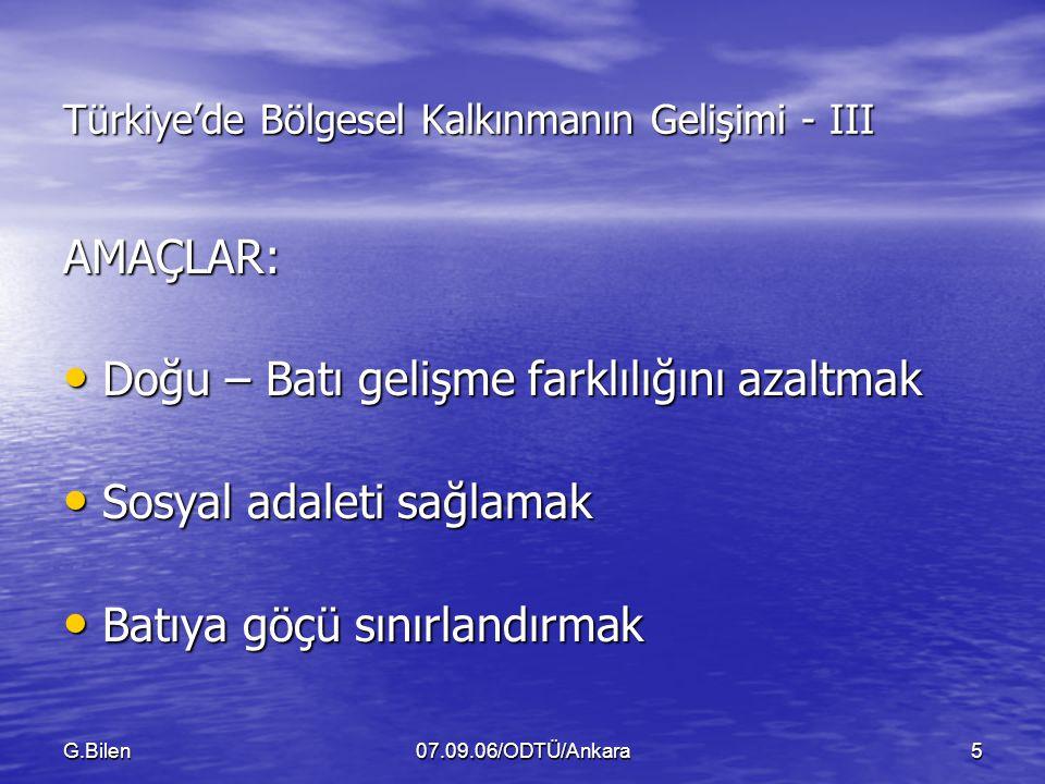 Türkiye'de Bölgesel Kalkınmanın Gelişimi - III