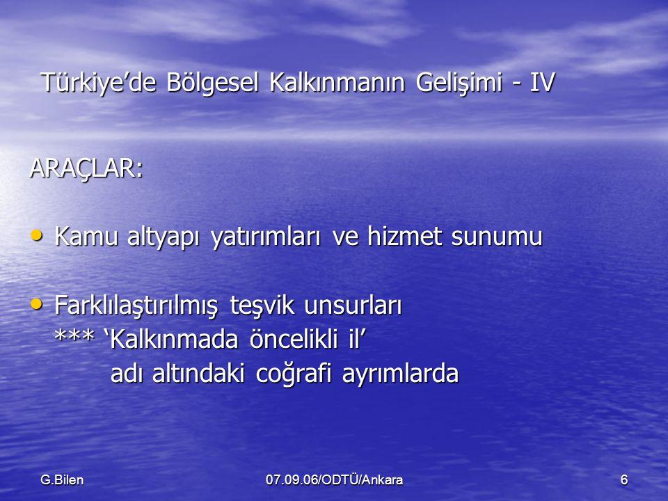 Türkiye'de Bölgesel Kalkınmanın Gelişimi - IV