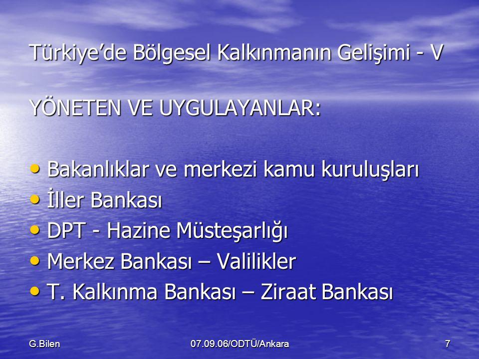 Türkiye'de Bölgesel Kalkınmanın Gelişimi - V