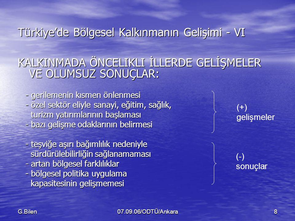 Türkiye'de Bölgesel Kalkınmanın Gelişimi - VI