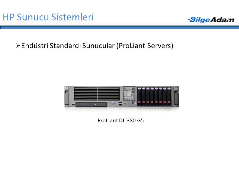 HP Sunucu Sistemleri Endüstri Standardı Sunucular (ProLiant Servers)