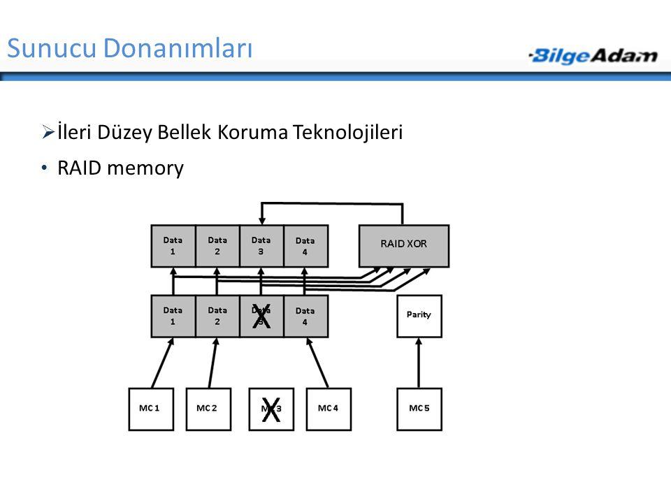 Sunucu Donanımları İleri Düzey Bellek Koruma Teknolojileri RAID memory