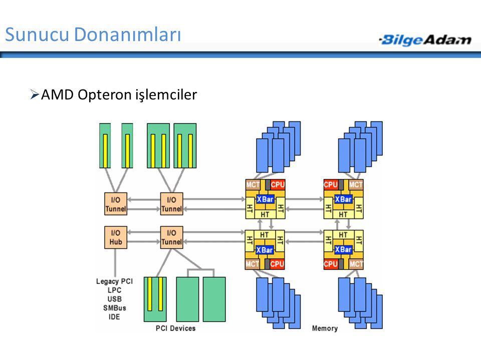 Sunucu Donanımları AMD Opteron işlemciler