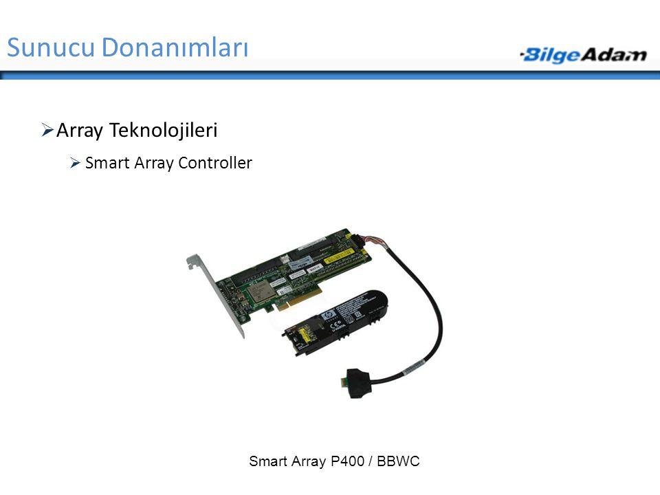 Sunucu Donanımları Array Teknolojileri Smart Array Controller