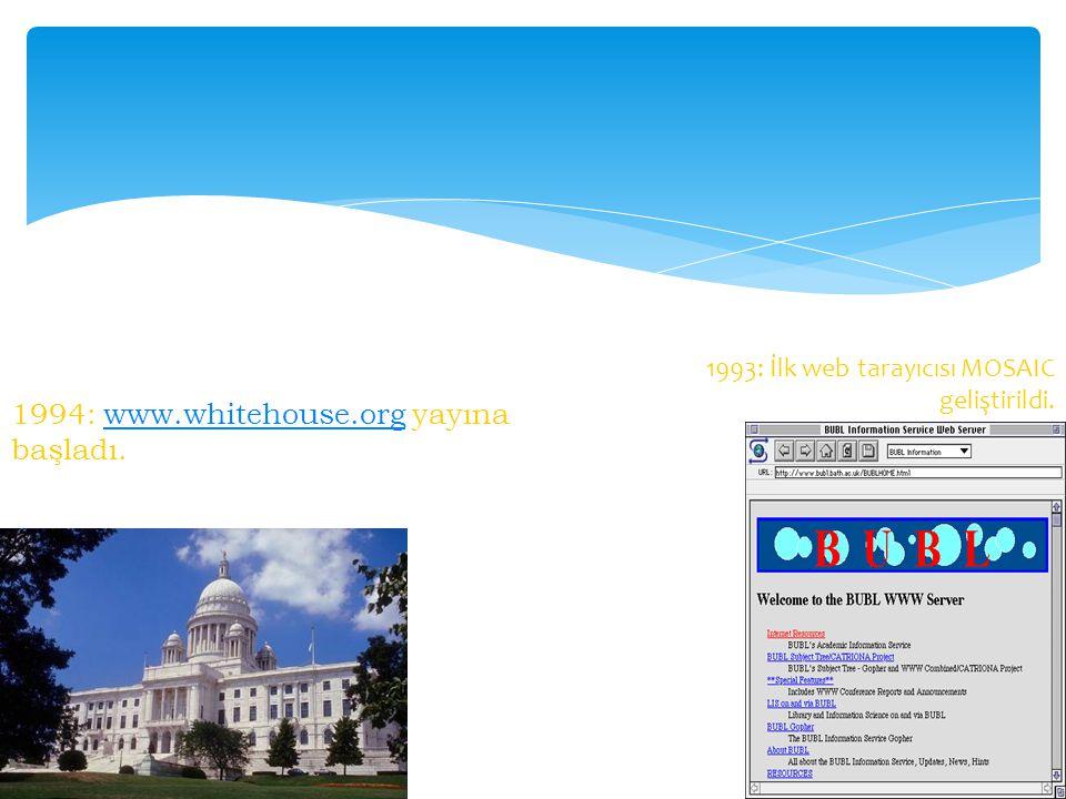 1994: www.whitehouse.org yayına başladı.