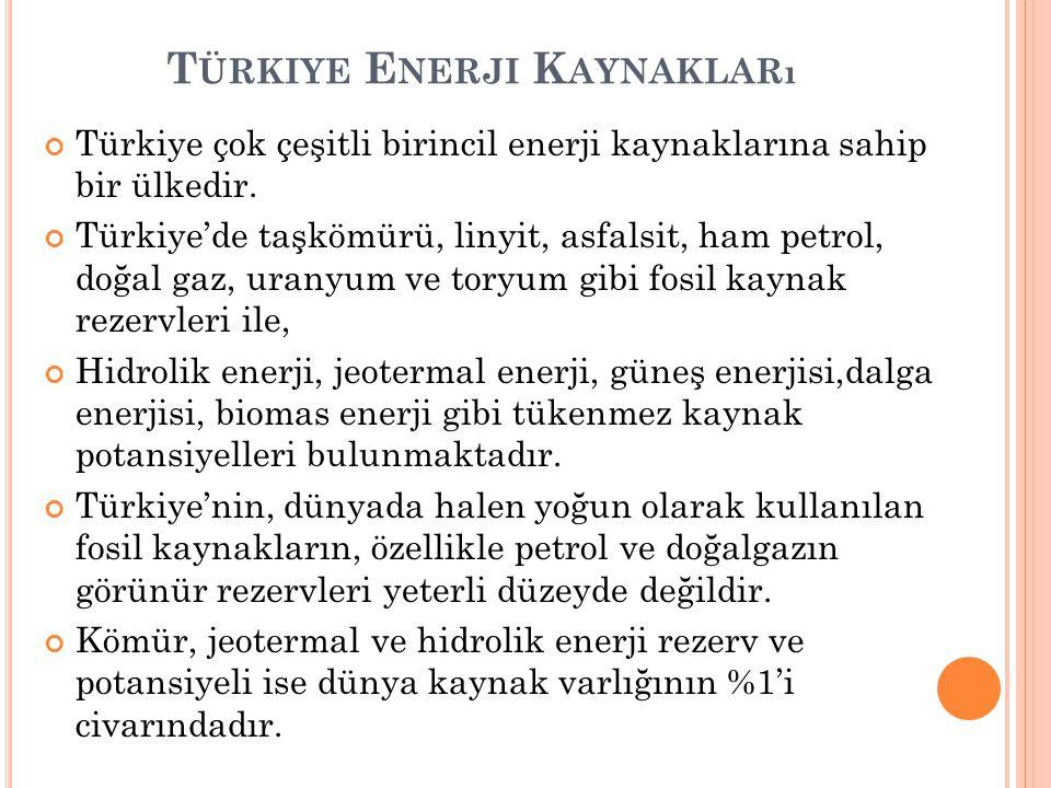 Türkiye Enerji Kaynakları