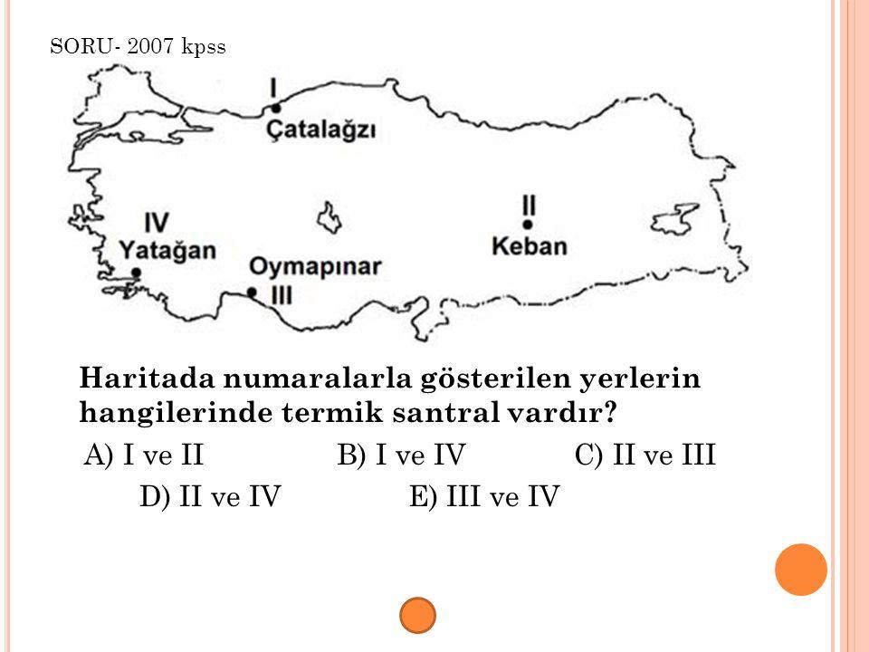 A) I ve II B) I ve IV C) II ve III D) II ve IV E) III ve IV